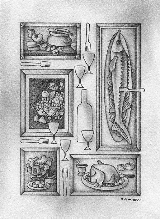 «Las almas muertas», originales de Alberto Gamón